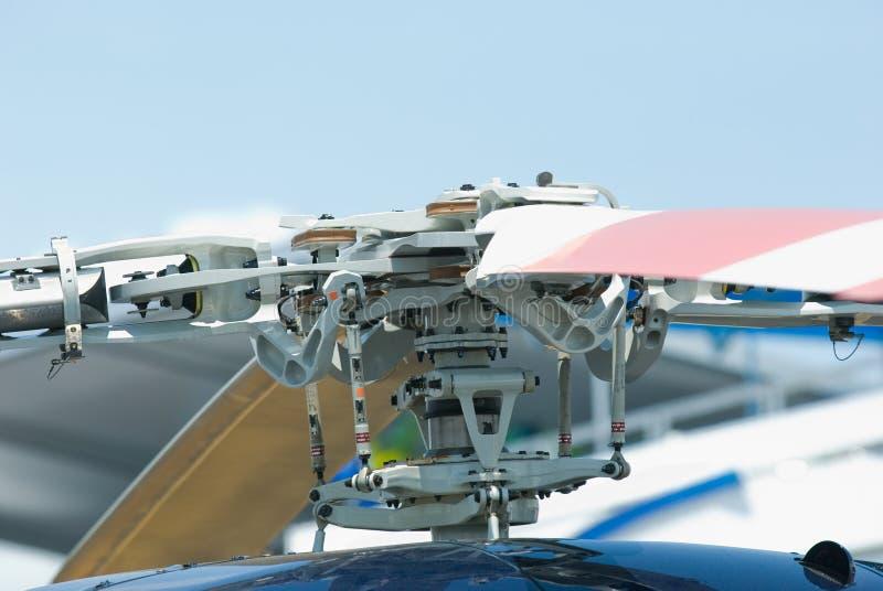Détail de rotor sur un hélicoptère photographie stock libre de droits