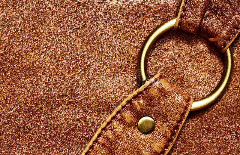 Détail de sac en cuir photos stock