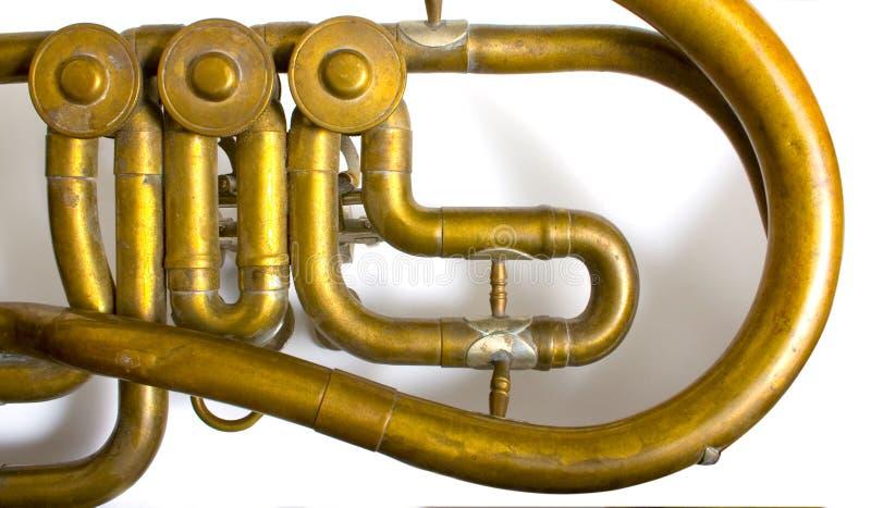 Détail de saxhorn image stock