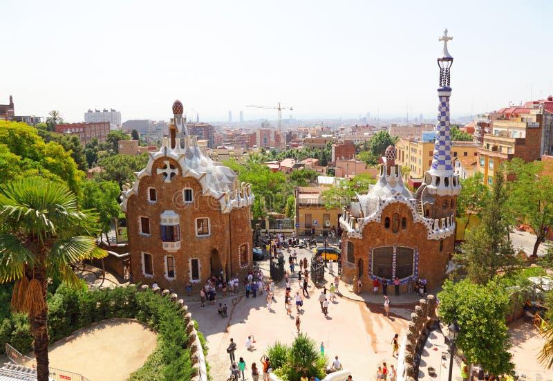Détail de stationnement Guell, conçu par Antonio Gaudi photographie stock