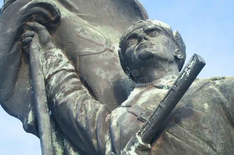 Détail de statue de soldat d'armée rouge photos libres de droits