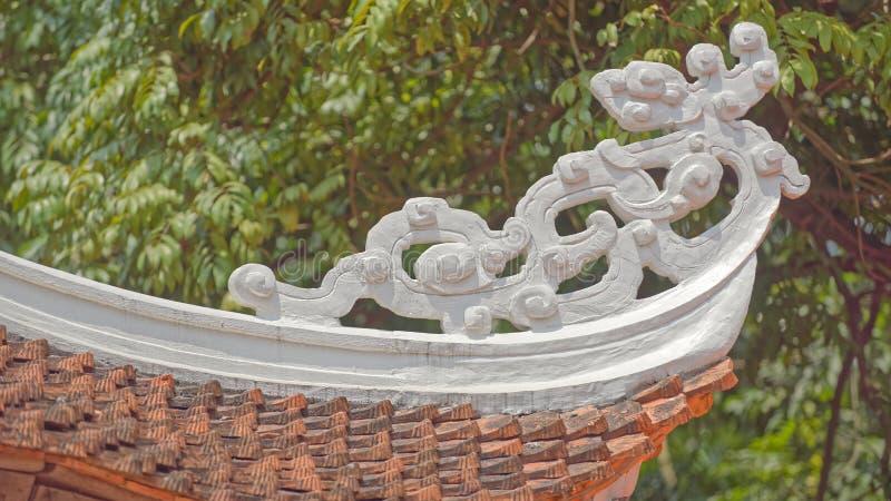 Détail de temple à la pagoda de parfum photo stock
