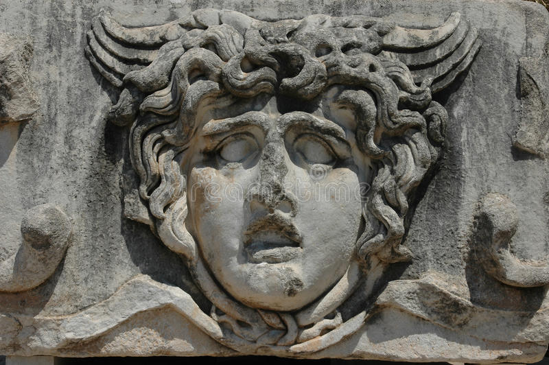 Détail de temple d'Apollo chez Didyma, Turquie image stock