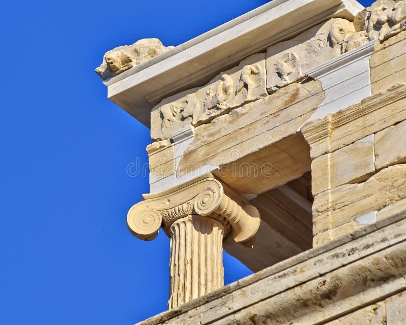 Détail de temple d'Athena Nike photo stock