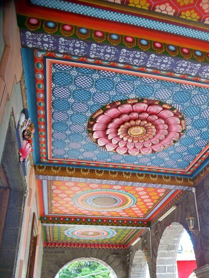 Détail de temple hindou - Îles Maurice photographie stock