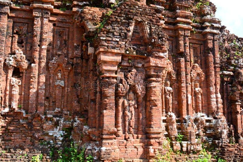 Détail de temple indou Mon fils Quảng Nam Province vietnam images libres de droits