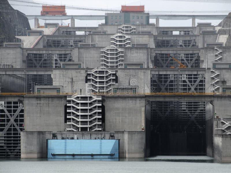 Détail de Three Gorge Dam photos libres de droits