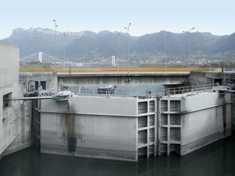 Détail de Three Gorge Dam photographie stock libre de droits