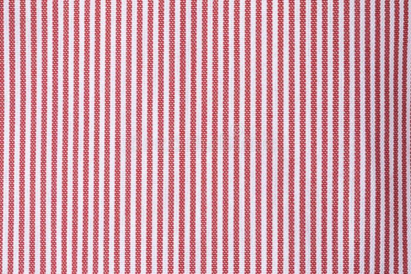 Détail de tissu avec des rayures rouges et blanches photo stock