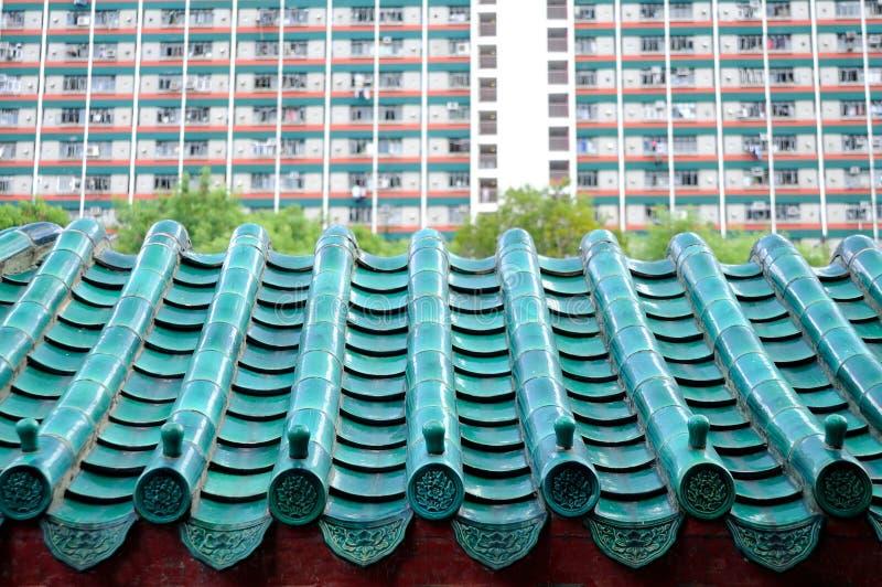 Détail de toit chinois photographie stock