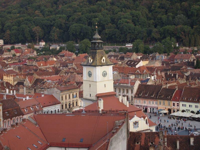 Détail de tour de ville roumaine brasov photos libres de droits