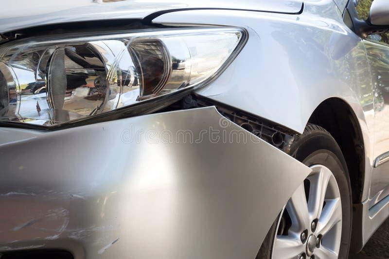 Détail de trace d'accident de voiture photographie stock