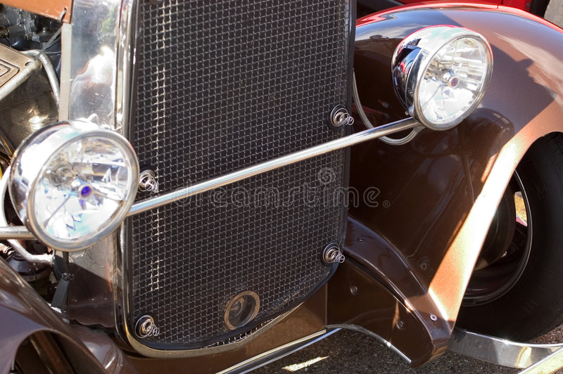 Détail de véhicule antique