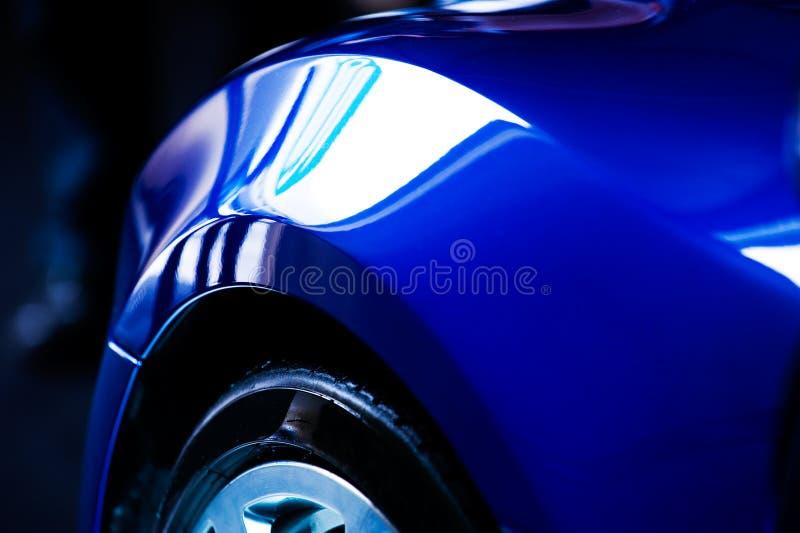 Détail de véhicule bleu photographie stock