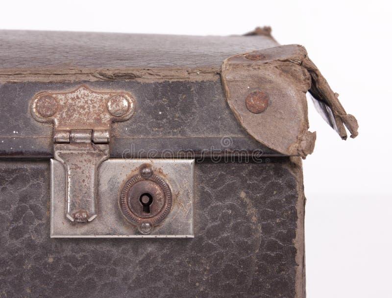 Détail de valise de vintage photographie stock