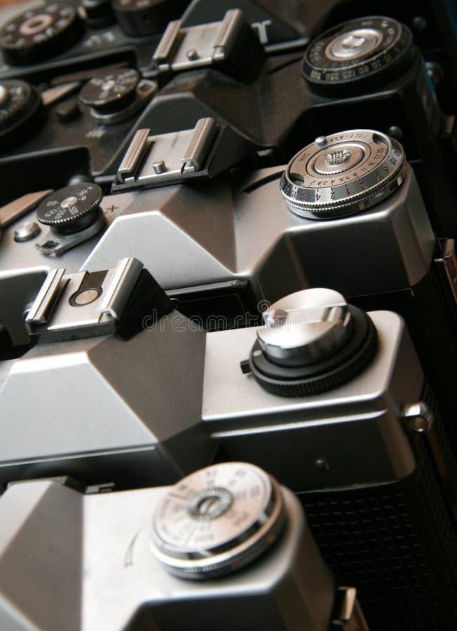 Détail de vieux appareils-photo de film photographie stock libre de droits