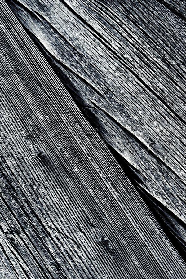 Détail de vieux bois avec les cannelures longitudinales photo libre de droits