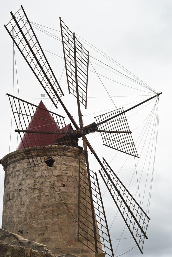 Détail De Vieux Moulin à Vent Photos stock