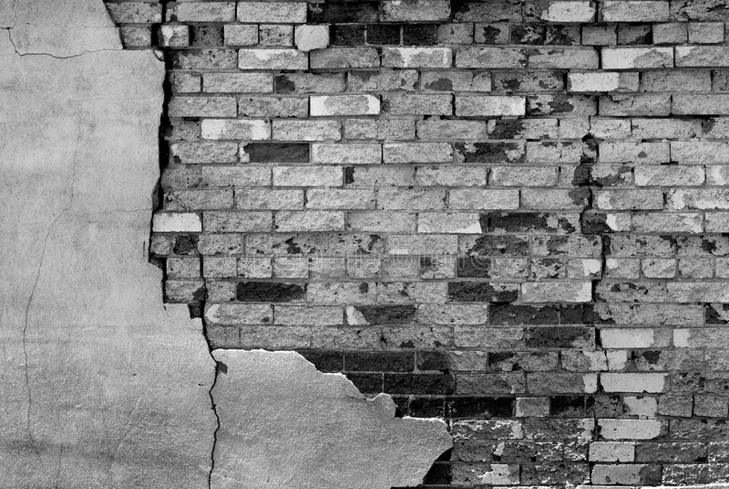 Détail de vieux mur de briques image libre de droits