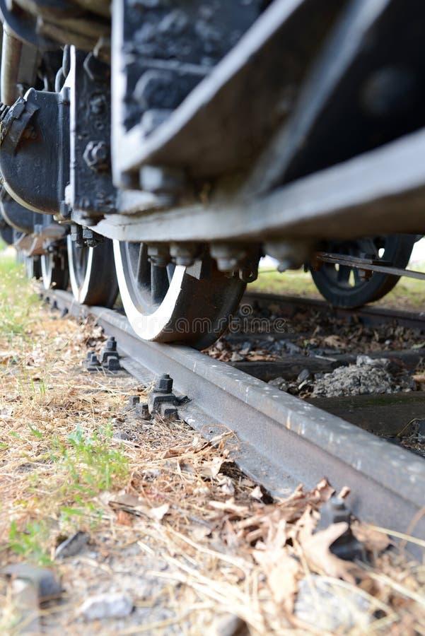 Détail de vieux train de vapeur photos stock