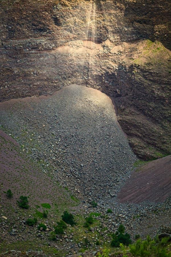Détail de volcan du mont Vésuve près de Naples en Italie photos libres de droits