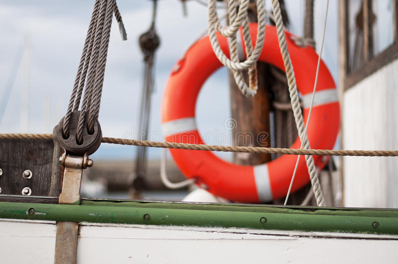 Détail de yacht de navigation images libres de droits
