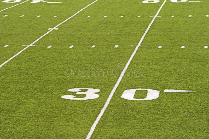 Détail de zone de football américain image stock