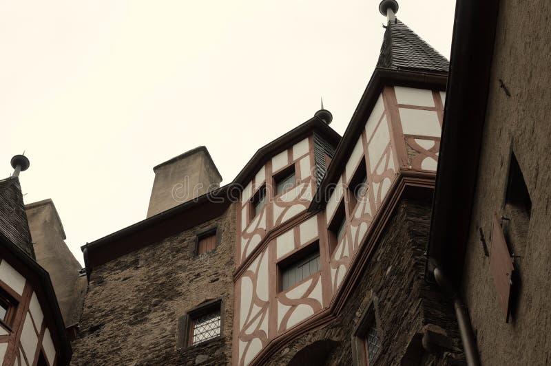 Détail des bâtiments à colombage dans une ville gothique Allemagne images stock