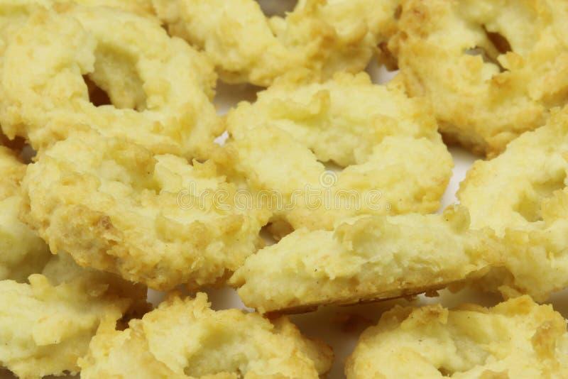 Détail des biscuits tchèques de christmast de noix de coco spéciale, bonbons à Noël images libres de droits