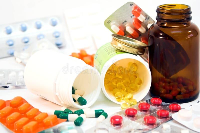 Détail des bouteilles de médecine photo libre de droits