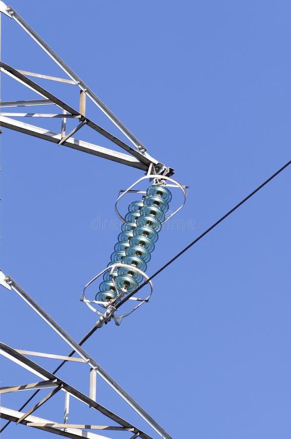 Détail des isolateurs électriques photographie stock