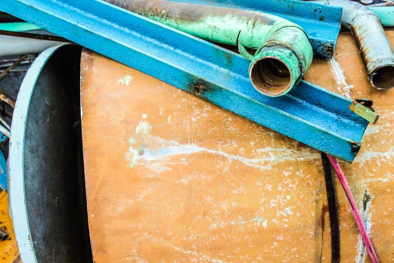 Détail des ordures Équipement Métal Industrie isolée image libre de droits