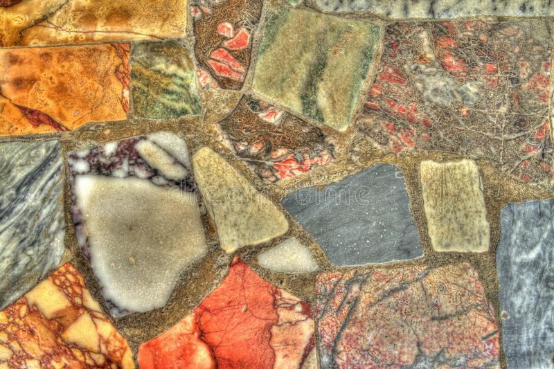 Détail des pierres dans HDR photographie stock