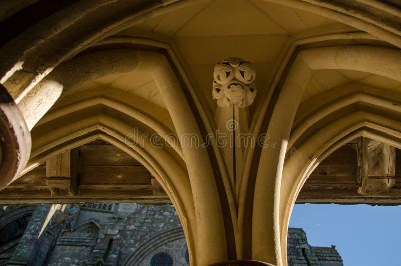 Détail des voûtes en Mont Saint Michel france photographie stock libre de droits