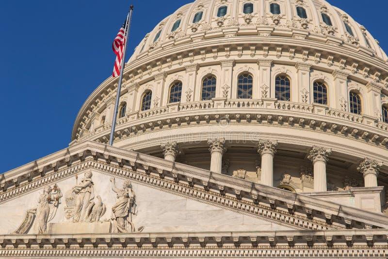 Détail du bâtiment de capitol des Etats-Unis à Washington D C photo stock