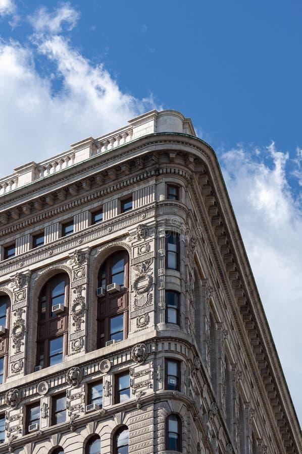 Détail du bâtiment de fer à repasser à New York City, Etats-Unis photos stock