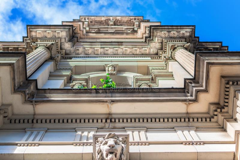 Détail du bâtiment de GPO à Melbourne images stock