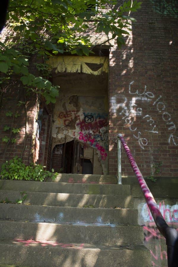 Détail du bâtiment historique de la serrure 19 sur la rivière Ohio images libres de droits