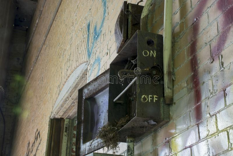 Détail du bâtiment historique de la serrure 19 sur la rivière Ohio photographie stock libre de droits