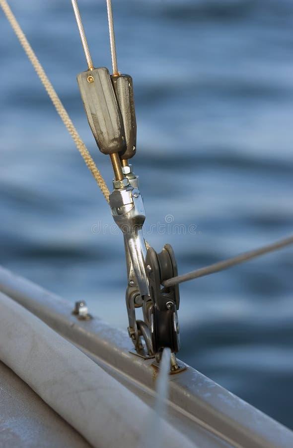 Détail du calage sur le bateau de Saol image stock