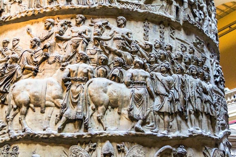 Détail du fléau de Trajan Musée de V&A photographie stock