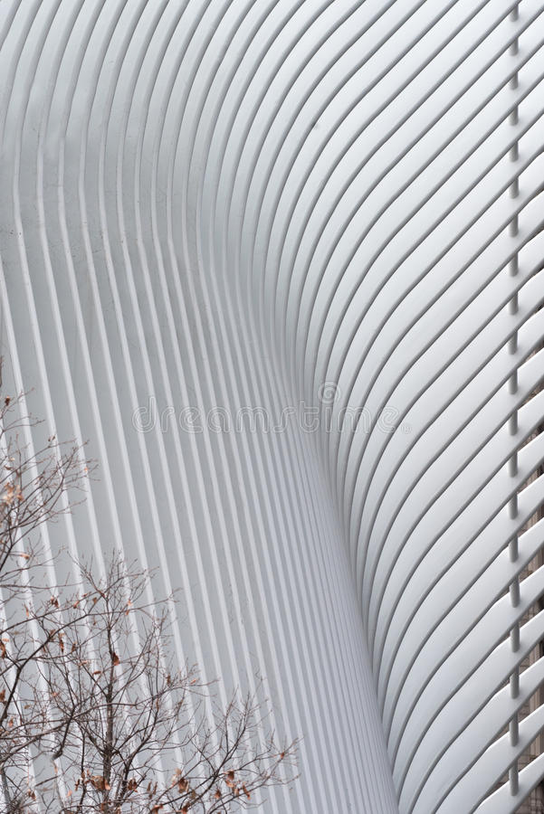Détail du nouveaux transit et vente au détail de hub de transport de World Trade Center photo libre de droits