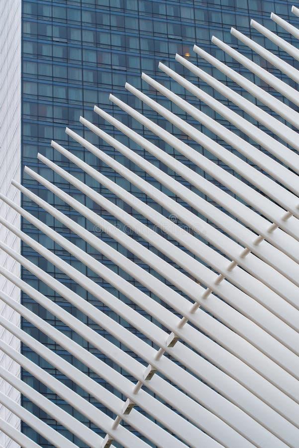 Détail du nouveaux transit et vente au détail de hub de transport de World Trade Center photographie stock