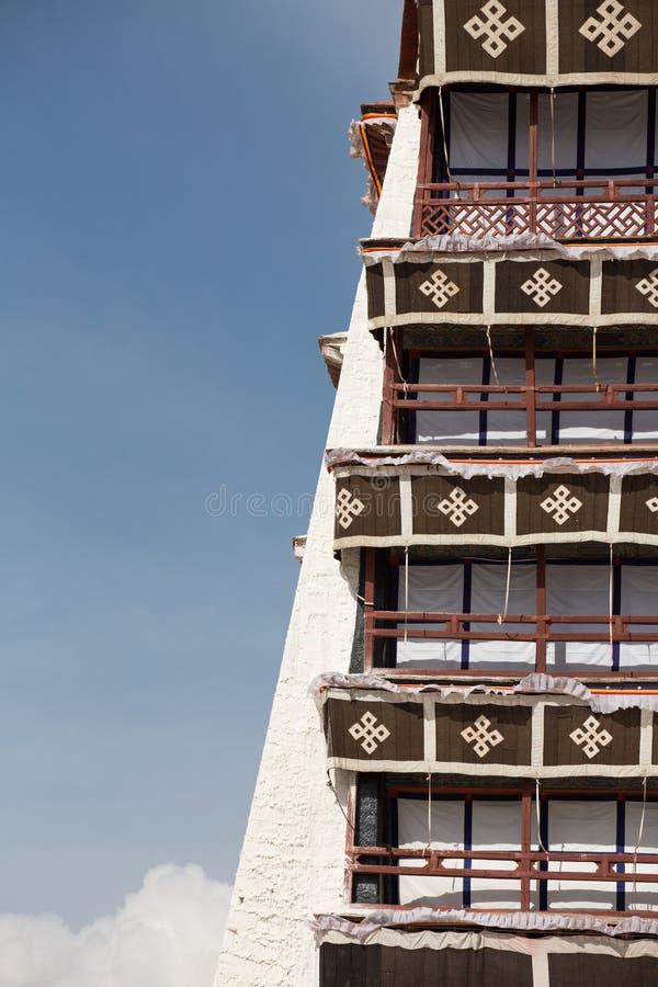 Détail du Palais du Potala, Thibet image libre de droits