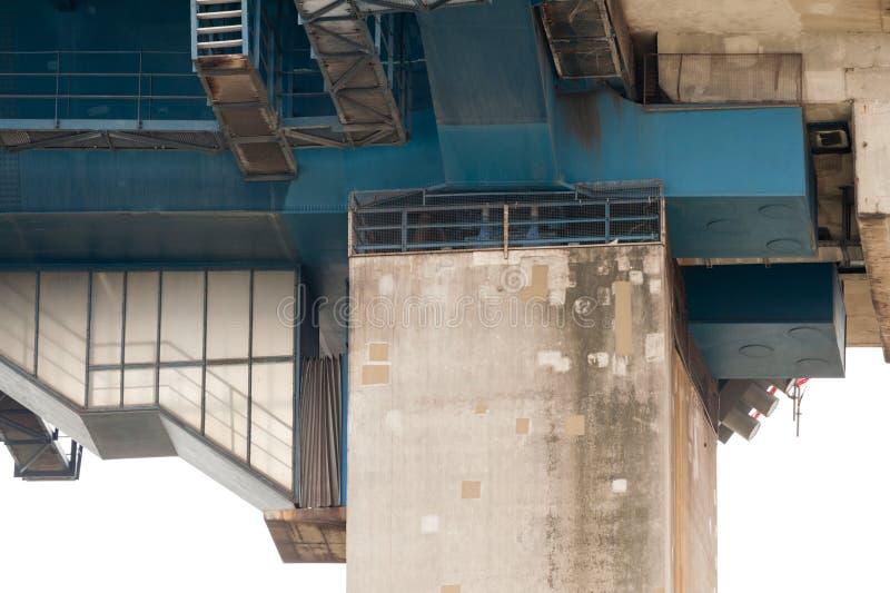 Détail du pont de Koehlbrand images libres de droits