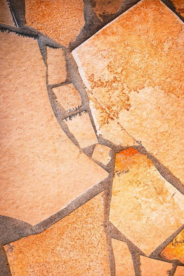Détail du revêtement en pierre de pierre à macadam photographie stock libre de droits