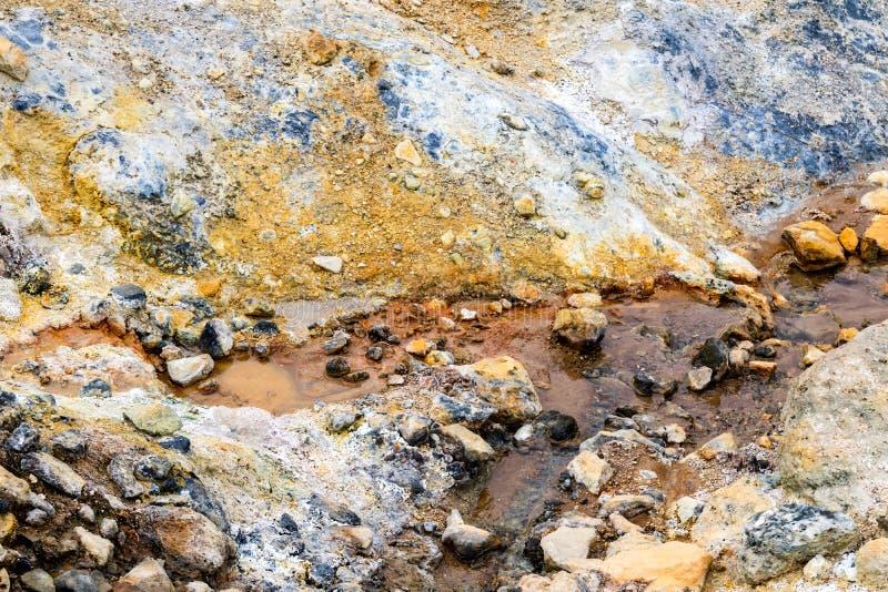 Détail du sable volcanique et d'un ressort d'eau photos libres de droits