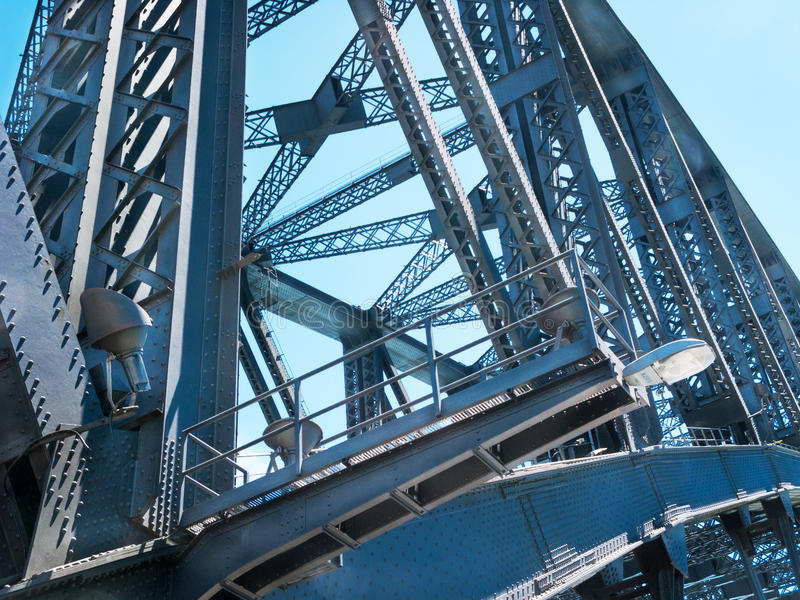 Détail en acier de construction de pont photos libres de droits