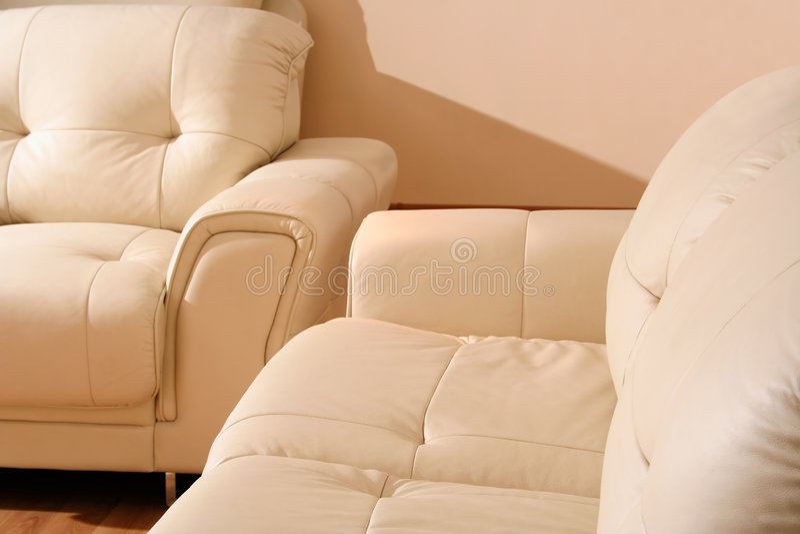 Détail en cuir de meubles photographie stock libre de droits