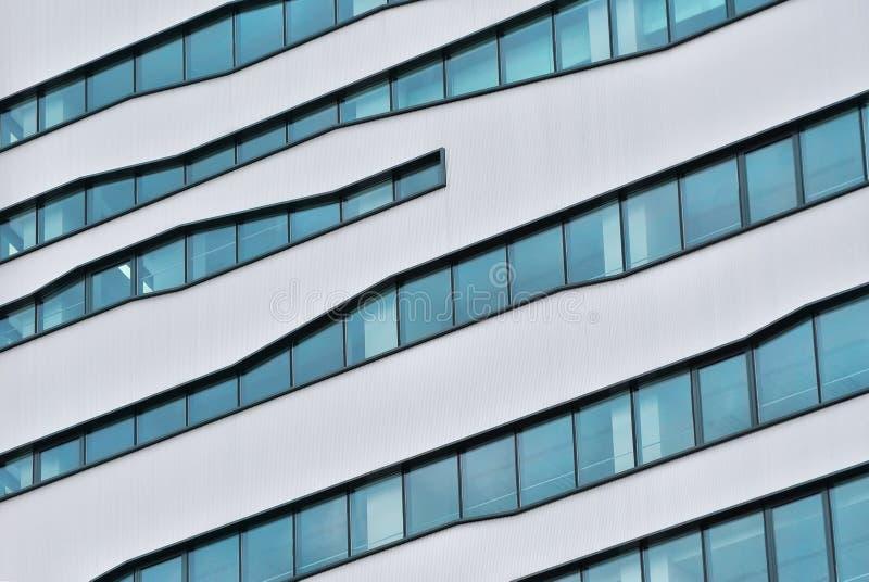 Détail en verre moderne de bâtiment photos libres de droits